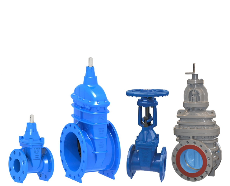 Gate valves for wastewater
